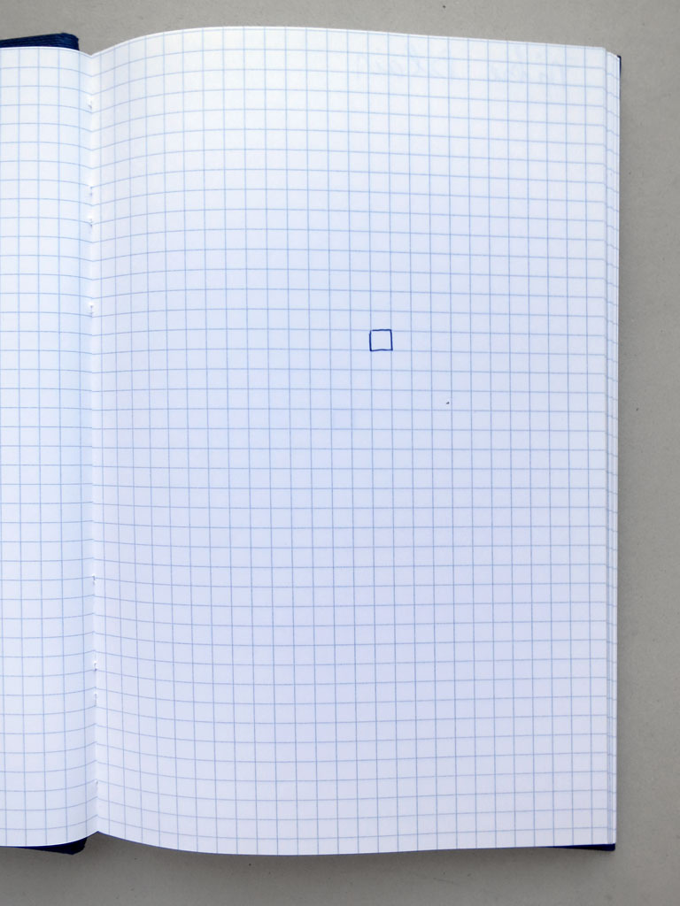 Claude Closky, 'Carrés préférés [Preferred squares]', 1993, ballpoint pen on sketch pad, 200 pages, 21 x 15 cm.